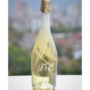 сватбено шампанско, декорирано шампанско, декорирана бутилка