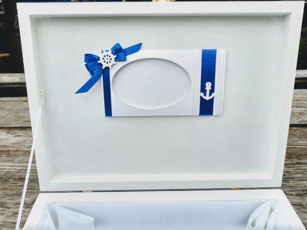 кутия за кръщелни дрехи, кутия за кръщене, морско кръщене