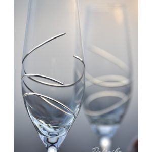 сватбни чаши, чаши за шампанско, декорирани чаши