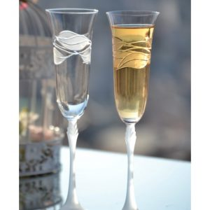 сватбни чаши, чаши за шампанско, декорирани чаши, кристални чаши