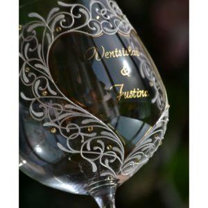 сватбен бокал, сватбена чаша за вино, бокал за църквата