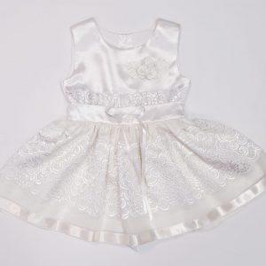 детска рокля с дантела- официална рокля за момиче- кръщелна рокля