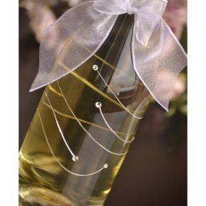 сватбено шампанско, декорирано шампанско