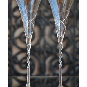 сватбени чаши, чаши за шампанско, с халки
