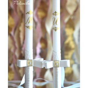 сватбени свещи, свещи за църквата, декорирани свещи