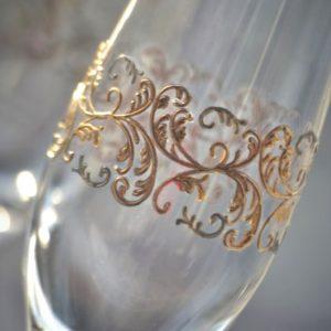 сватбени чаши, чаши за шампанско, с надпис