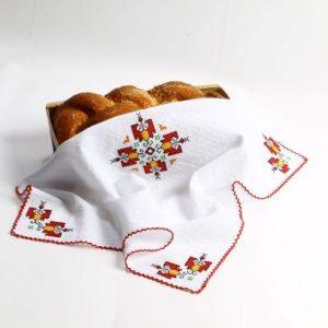 кърпа за погача, месал за хляб, месал с шевици