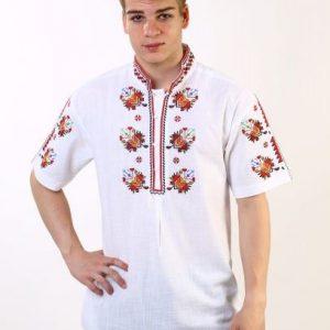 мъжка риза с шевици, бродирана, за носия, за кръстник, кенарена