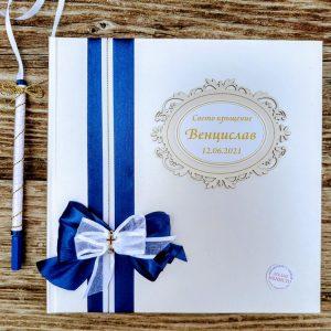 книга за пожелания, кръщене момче, сватбена книга, златно кръстче
