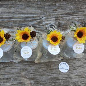 подаръци за гостите, бурканчета с мед, декорирани бурканчета