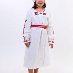 детска носия за момиче, дълга риза с шевици,
