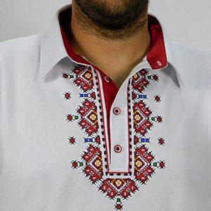 мъжка риза с шевици, бродирана, за носия, за кръстник